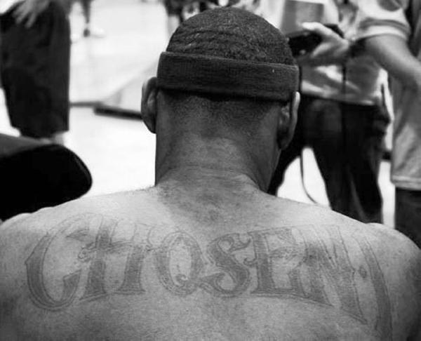 LeBron Back Tattoo