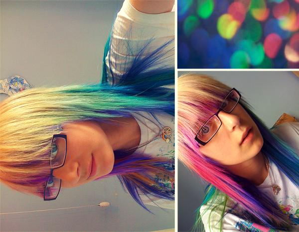 rainbow hair 35 Excellent Long Hairstyles With Bangs