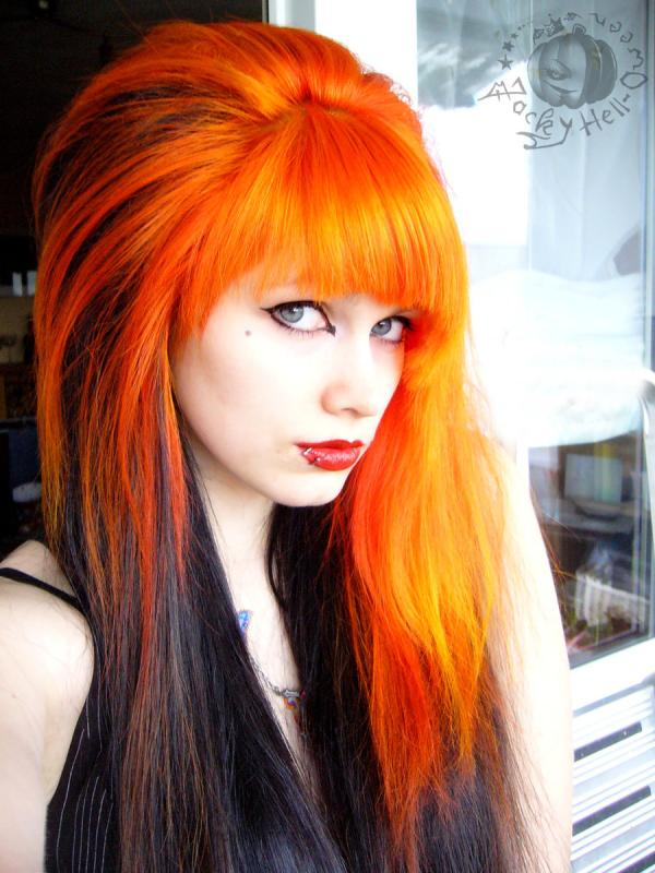 rebellious orange hair 35 Excellent Long Hairstyles With Bangs