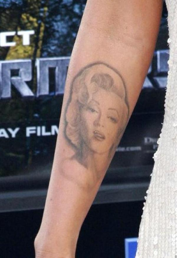 cool arm tattoo 40 Sexy Megan Fox Tattoos