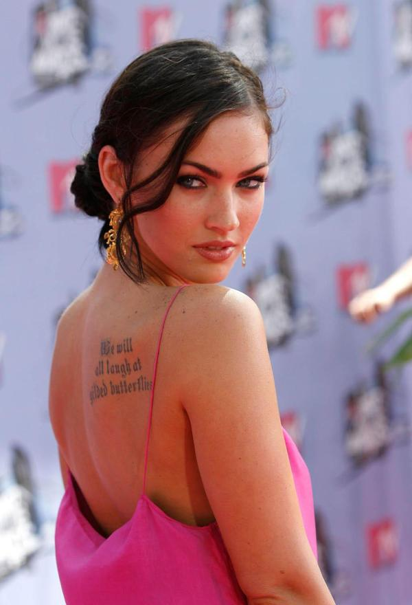 full back tattoo 40 Sexy Megan Fox Tattoos