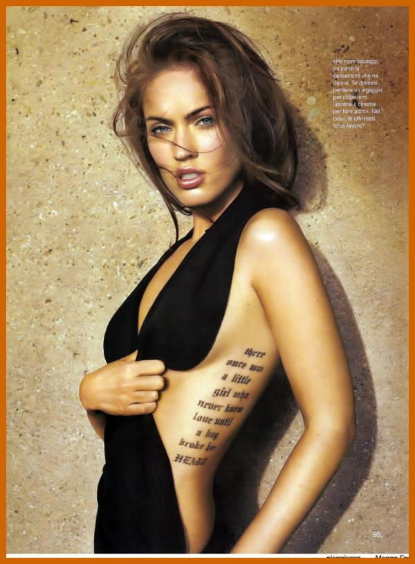 hot pic 40 Sexy Megan Fox Tattoos