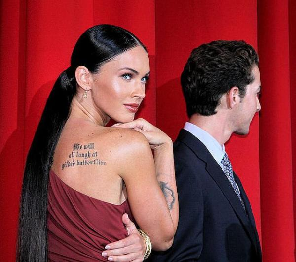 megan fox and shia leBeouf 40 Sexy Megan Fox Tattoos