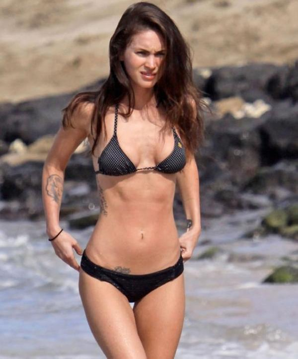 megan fox beach 40 Sexy Megan Fox Tattoos