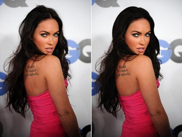 megan fox retouch 40 Sexy Megan Fox Tattoos