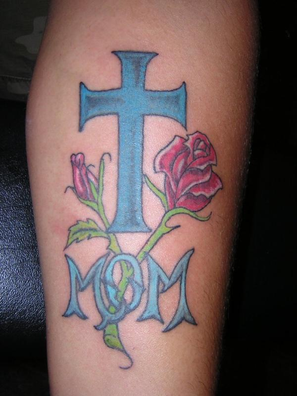 Blue Cross Mom Tattoo