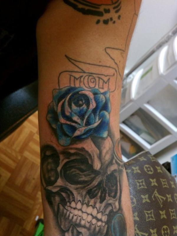 Blue Rose For My Mom