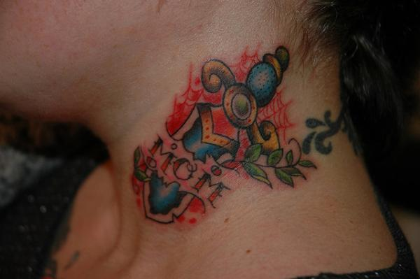 Mom Tattoo On Neck