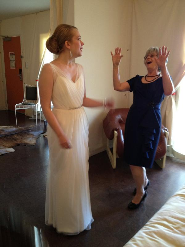 Excited Mother Of The Bride