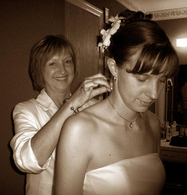 sepia mom and bride 35 Beautiful Mother of The Bride Hairstyles