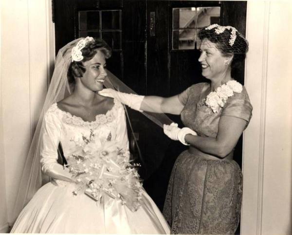 Vintage Bride And Mon