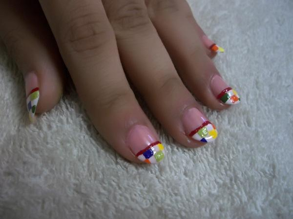 35 beautiful nail art ideas slodive marbled tip nails prinsesfo Images