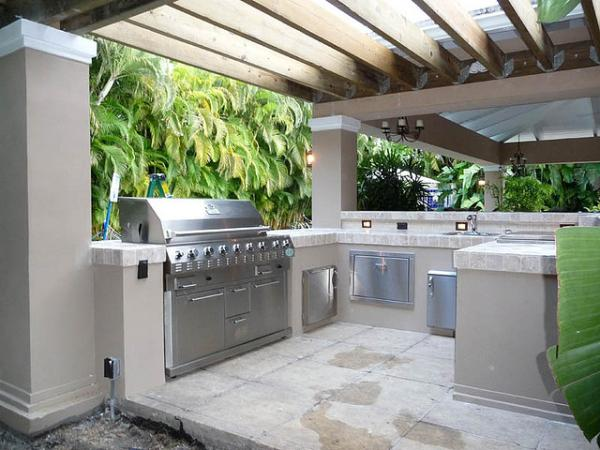 Outdoor Kitchen Pergola Built In Grill