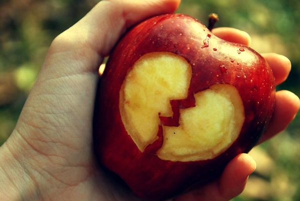 apple broken heart 35 Pictures Of Broken Hearts To Make You Feel The Pain