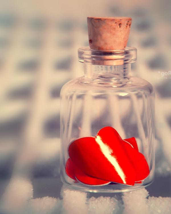 Broken Hearts Captured In Jar
