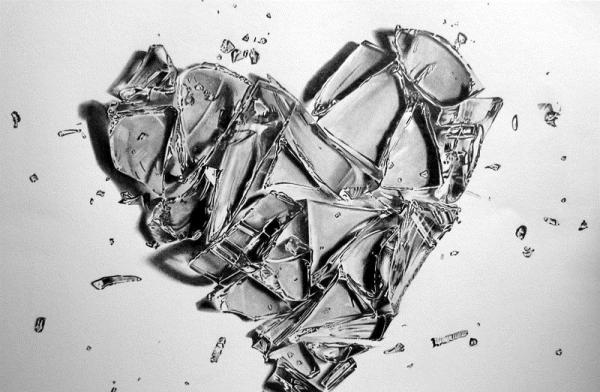 Broken And Cracked Hearts Of Ice