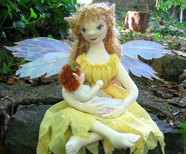 Mother Fairy With Her Baby