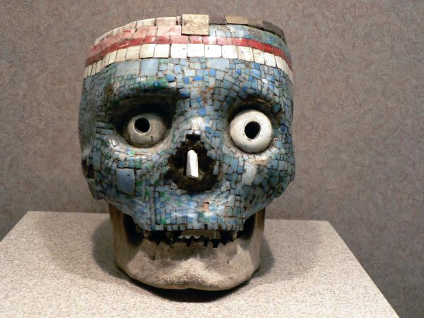 aztec mosaic 30 Chilling Pictures of Skulls