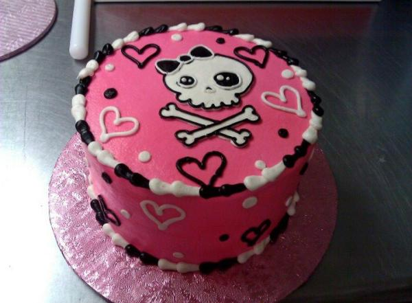 cutie skull cake 30 Chilling Pictures of Skulls