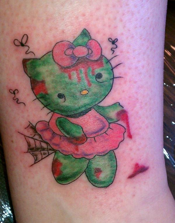 Zombie In Pink Tattoo
