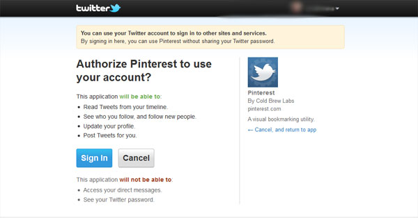 through twitter login How To Use Pinterest   Everything You Need To Know