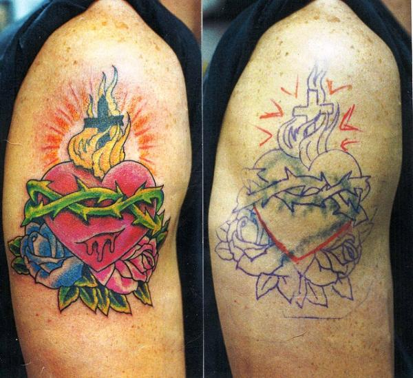 Heart Cover Up Tattoo