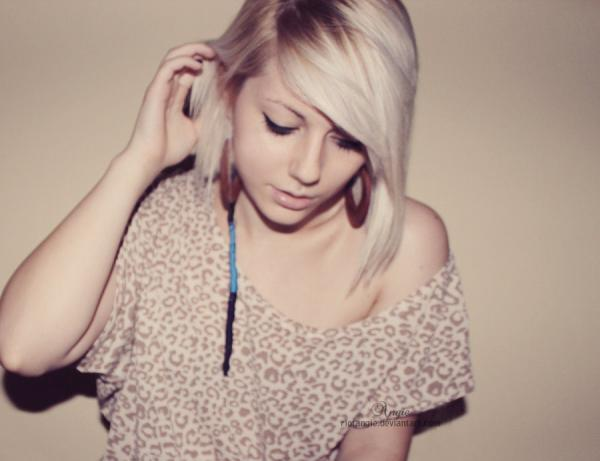 Girl Short Hair Blonde Cold