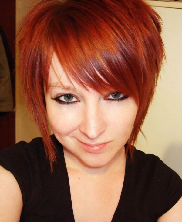 Cute Stylish Red Layered Hair