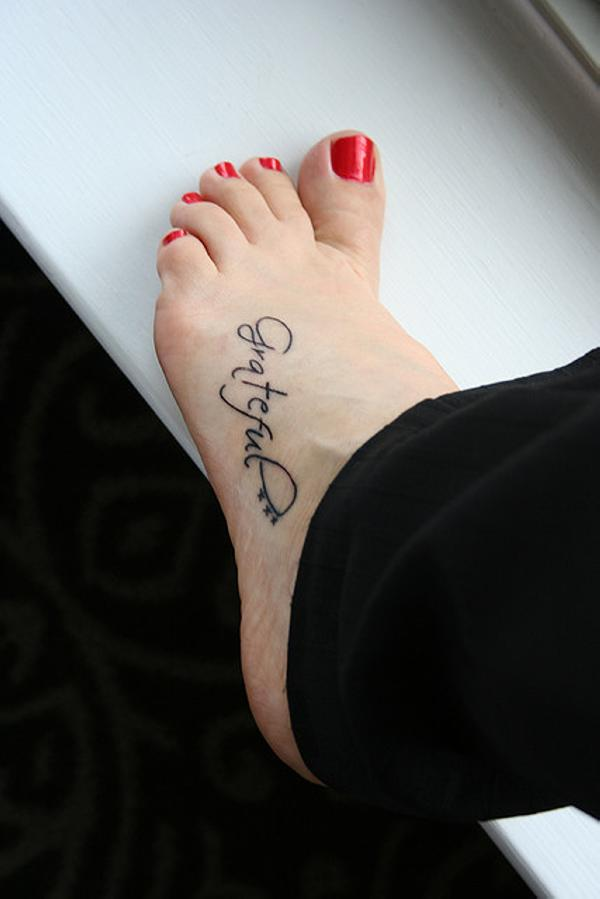 Simple Foot Tattoo