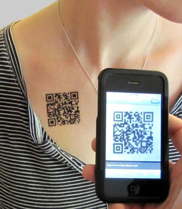 qr code tattoo 35 Small Tattoos For Girls Which Looks Really Cute