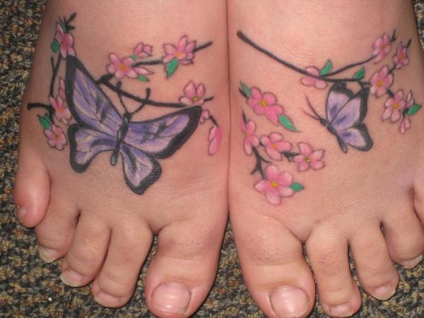 my butterfly feet 25 Majestic Tattoos On Feet
