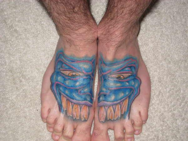 scary feet tattoo 25 Majestic Tattoos On Feet
