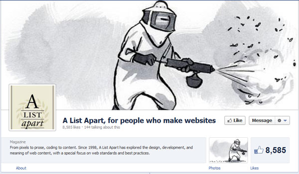 alistapart 40 Creatively Awesome Facebook Timeline As Used By Brands
