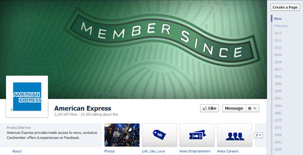 americanexpress 40 Creatively Awesome Facebook Timeline As Used By Brands