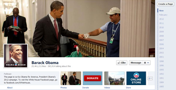 barackobama 40 Creatively Awesome Facebook Timeline As Used By Brands