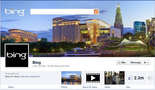 bing 40 Creatively Awesome Facebook Timeline As Used By Brands