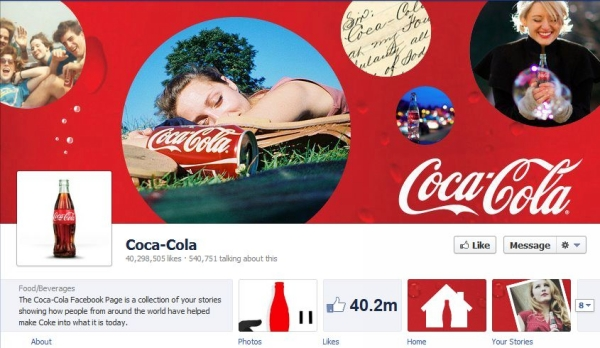 cocacola 40 Creatively Awesome Facebook Timeline As Used By Brands