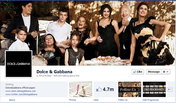 dolcegabbana 40 Creatively Awesome Facebook Timeline As Used By Brands
