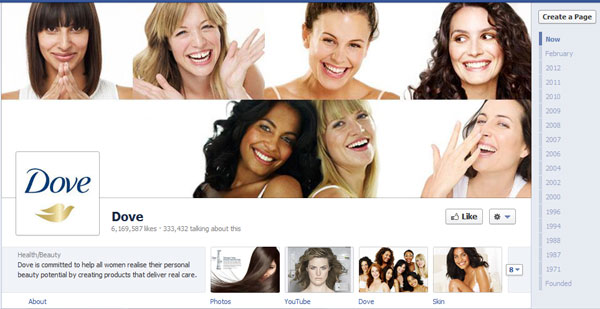 dove 40 Creatively Awesome Facebook Timeline As Used By Brands