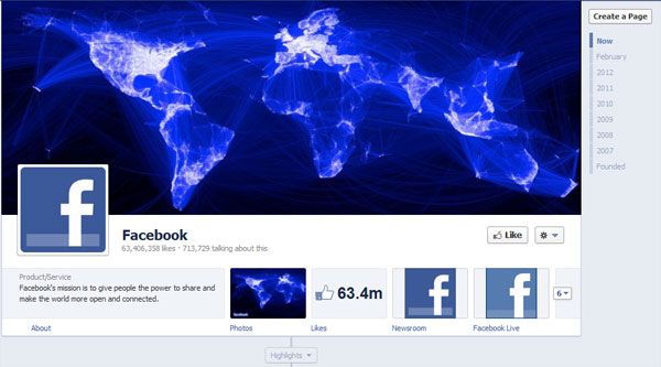 facebook 40 Creatively Awesome Facebook Timeline As Used By Brands