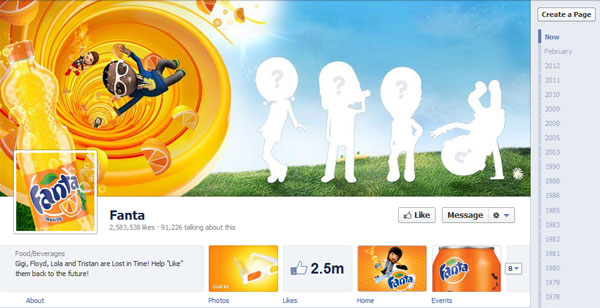 fanta 40 Creatively Awesome Facebook Timeline As Used By Brands