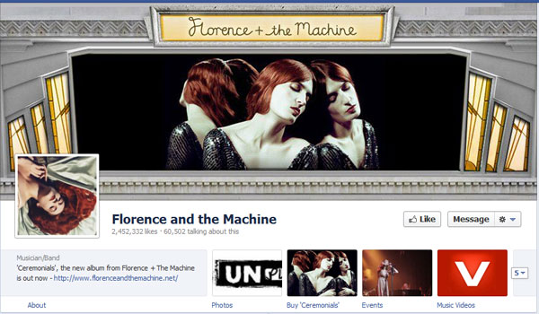 florence 40 Creatively Awesome Facebook Timeline As Used By Brands