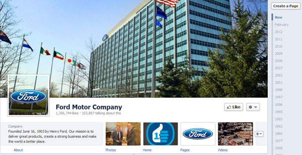 ford 40 Creatively Awesome Facebook Timeline As Used By Brands