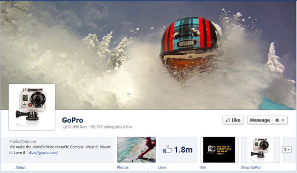 gopro 40 Creatively Awesome Facebook Timeline As Used By Brands