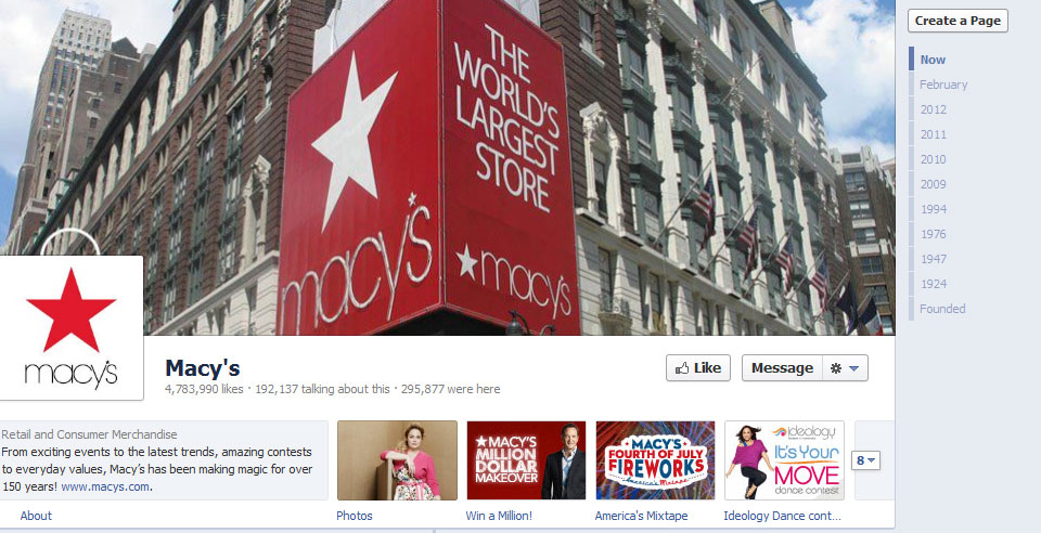 macys 40 Creatively Awesome Facebook Timeline As Used By Brands