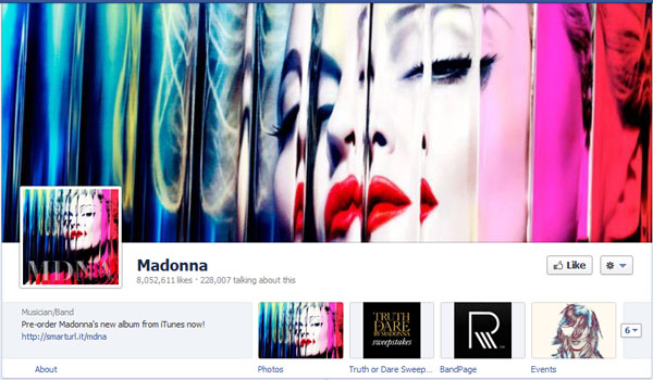 madonna 40 Creatively Awesome Facebook Timeline As Used By Brands