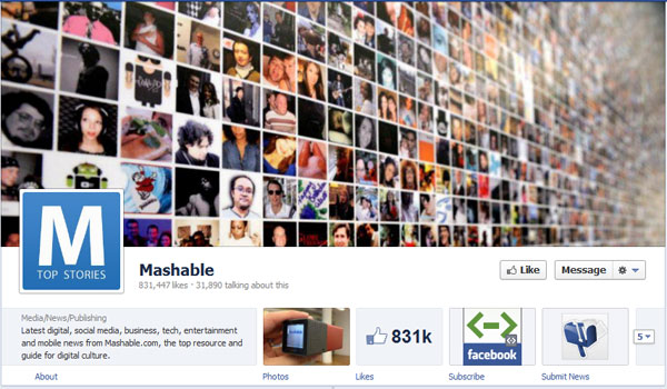 mashable 40 Creatively Awesome Facebook Timeline As Used By Brands
