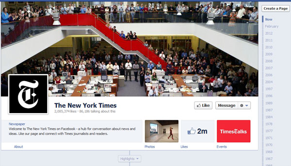 nytimes 40 Creatively Awesome Facebook Timeline As Used By Brands