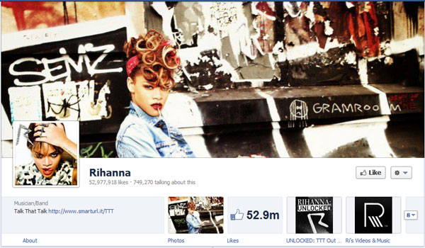 rihanna 40 Creatively Awesome Facebook Timeline As Used By Brands