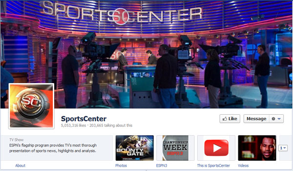 sportscenter 40 Creatively Awesome Facebook Timeline As Used By Brands